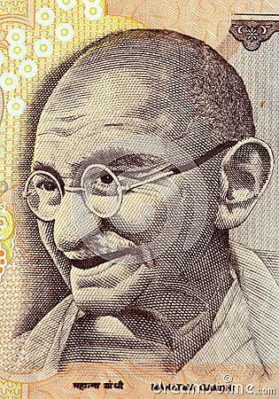 Mahatma gandhi on currency note