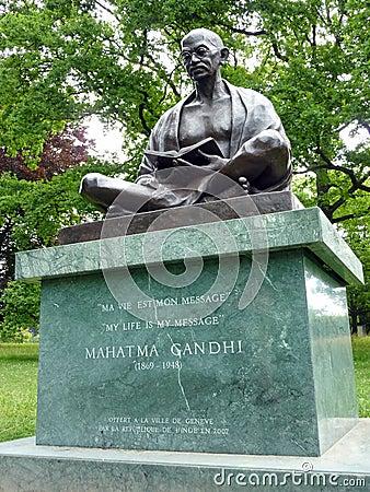 Mahatma Gandhi, Geneva, Switzerland Editorial Photo