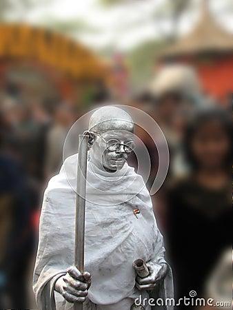 Mahatma Gandhi statue Editorial Image