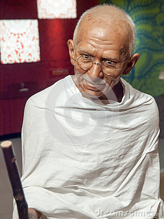 Mahatma Gandhi wax statue Editorial Stock Image