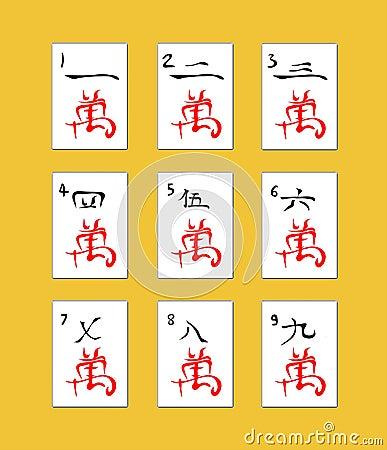 Free Mahjong Tiles. Royalty Free Stock Photography - 2601127