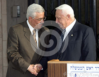 Mahmoud Abbas and Ariel Sharon Editorial Photography