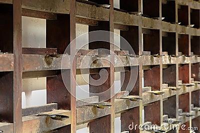 Mahogany racks Hindu Krishna temple
