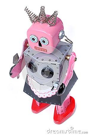 Maid 5 - vintage robot toy Stock Photo