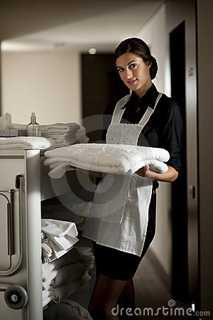 Free Maid At Work Stock Image - 17271041