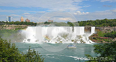 Maid of the Mist at American Falls, Niagara Falls Editorial Image