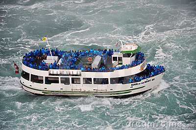 Maid of the Mist, Niagara Falls Editorial Stock Photo