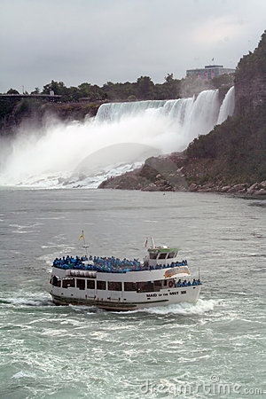 Maid in the Mist Niagara Falls Editorial Photography