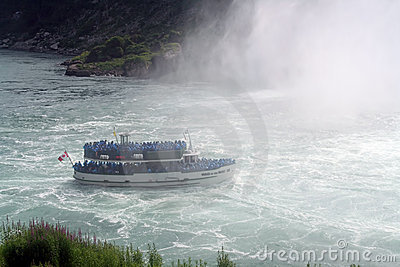 Maid in the Mist, Niagara Falls Editorial Stock Photo