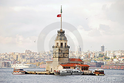 Maiden s Tower Editorial Stock Photo