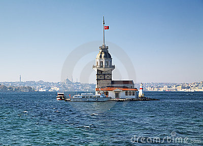 Maiden s Tower in Istanbul, Turkey