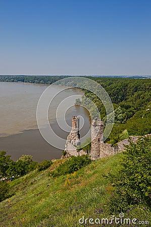 Maiden Tower of Devin castle. Bratislava, Slovakia