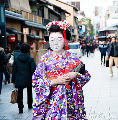 Maiko,  apprentice geisha Editorial Stock Photo