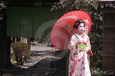 Maiko and geisha Editorial Photo