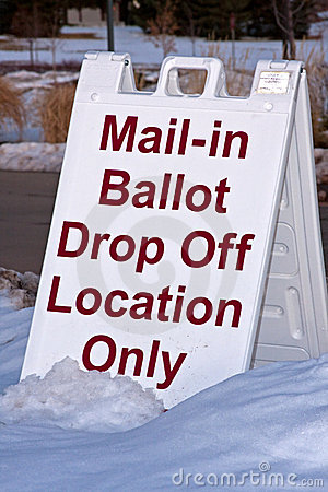 Mail-in Ballot Sign