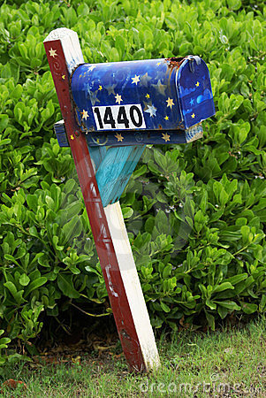 Mail box in Cocoa Beach