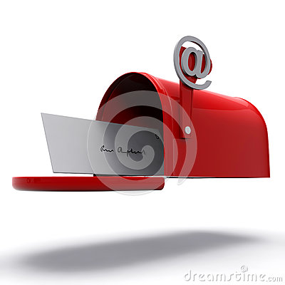 Mail Box Shows E-mail Correspondence