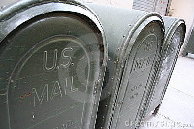 Mail boxes in the United States