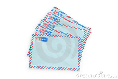 Mail concept with many envelopes
