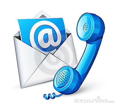 Free Mail Icon And Blue Phone Royalty Free Stock Photography - 20327277