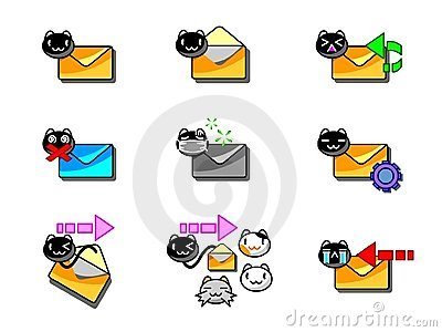 Mail Icon Cat Style 001