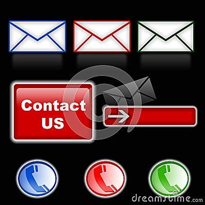 Mail & phone symbols