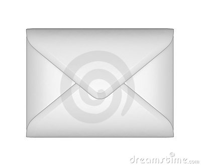 Mail and post - White sealed envelope
