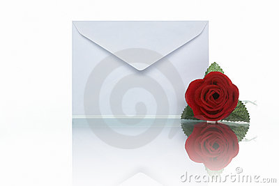 Mail and rose