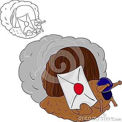 Mail snail hurry u