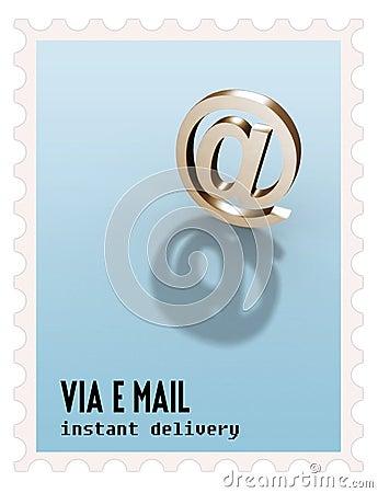 mail symbol stamp