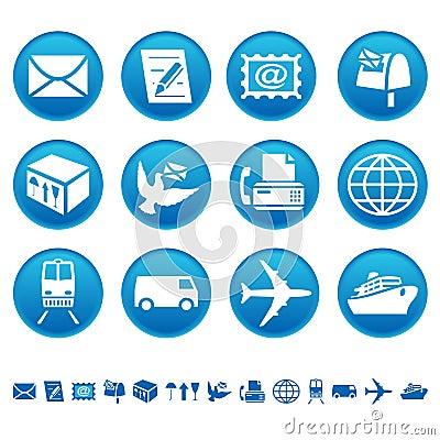 Free Mail & Transportation Icons Stock Photo - 8573250