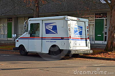 Mail truck Editorial Photo