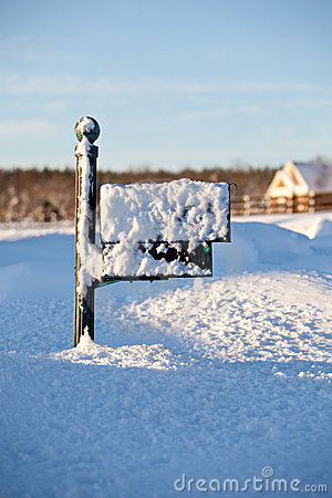 Mailbox deep in snow
