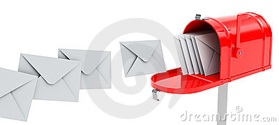 Mailbox with mails