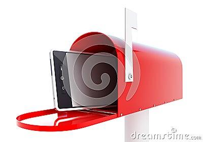Mailbox phone 3d Illustrations