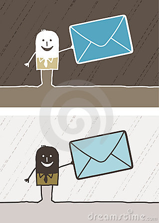 Mailing colored cartoon