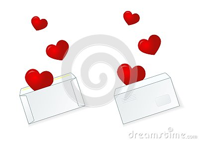 Mailing envelope in which there are 3 heart