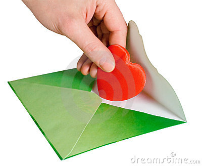 Mailing a Valentine Heart