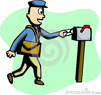 Mailman delivering a mail vector illustration