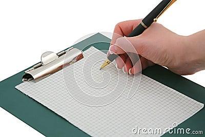 Main #2 d écriture