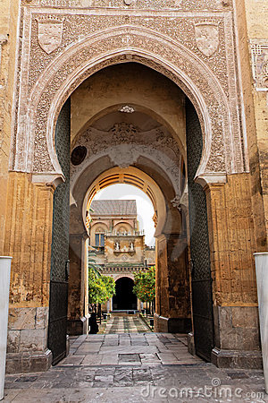 Main access to Cathedral Mosque Patio in Cordoba