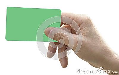 Main avec la carte à puce
