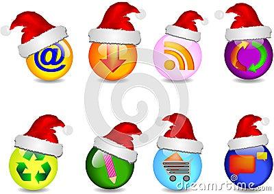 Main business Christmas icons