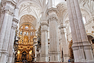 Main cathedral altar in Granada, Spain