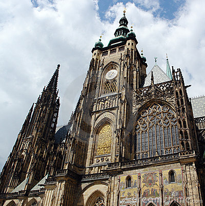 The main cathedral in Prague.