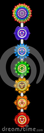 Free Main Chakras Royalty Free Stock Image - 36946986
