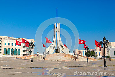 Main city square in Tunis
