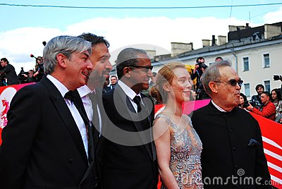Main competition jury of XXXVI Moscow International Film Festival Editorial Image