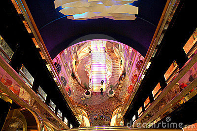 Main Concourse of Liberty of the Seas Editorial Stock Photo