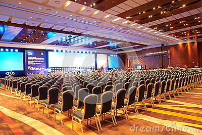 Main Conference Hall Editorial Stock Image